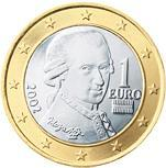1 euro (other side, country Austria) 1