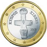 1 euro (other side, country Cyprus) 1