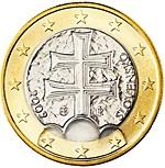 1 euro (other side, country Slovakia) 1